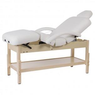 Lettino Da Massaggio In Legno Fisso.Lettino Fisso In Legno Brachi A 4 Sezioni Parte Inferiore Con